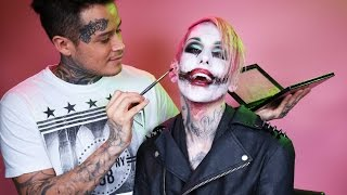"""The Joker"" Makeup Tutorial with Jeffree Star & Nojusthenry"