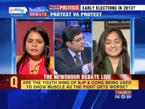 The Newshour Debate: Is Youth Wing = Muscle Power for our political parties?