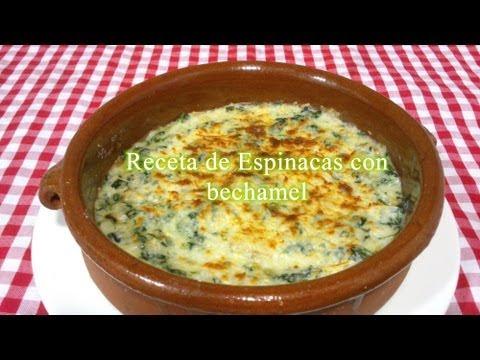 Receta de Espinacas con Bechamel