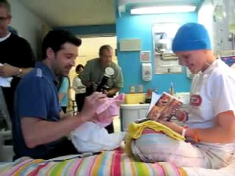 Patrick Dempsey visits Addison Sewell in hospital Video
