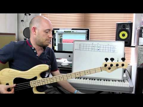 Using Simple Shapes To Create Bass Lines - Lesson With Scott Devine (l#70) video
