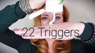 22 ASMR Triggers   No Talking   Intensely Relaxing Sounds