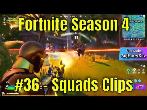 Fortnite Season 4 #36 - Squads Clips
