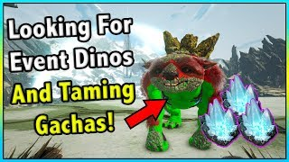 TRYING TO FIND RED AND GREEN TAMES + GATCHA TAMING FRENZY! || ARK EXTINCTION Ep 17!