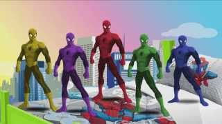 5 Spiderman Jumping on the Bed - Five little monkeys Jumping on the bed