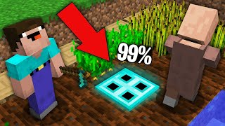 Minecraft NOOB vs PRO: 99% VILLAGERS CANT FOUND DIAMOND TRAPDOOR IN FARMLAND!Challenge 100% trolling