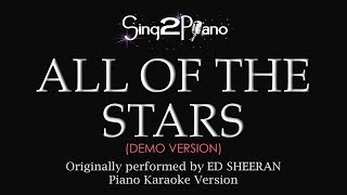 All Of The Stars Piano Karaoke Version Ed Sheeran
