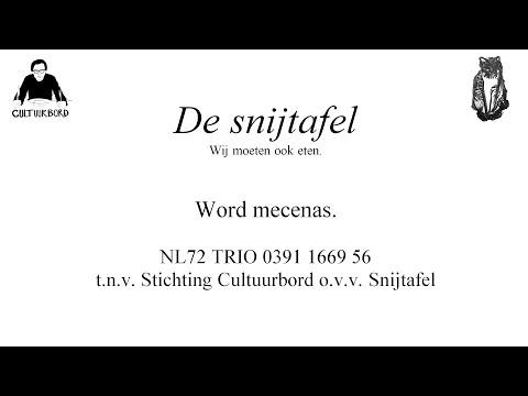 Steun De snijtafel: word mecenas.