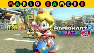 Mario Kart 8 Deluxe - Flower Cup 100cc - Baby Peach Gameplay | MarioGamers