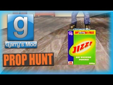 Garry's Mod Prop Hunt Funny Moments - Jizz, Old Man Movie, Happy Balloons, And More! video