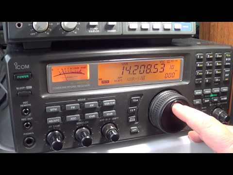 ARRL International phone DX contest 20 meters 2100 UT pt 2