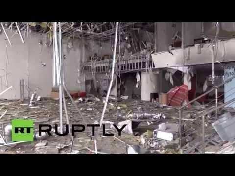 Carnage: Toyota showroom bombed near Donetsk battle