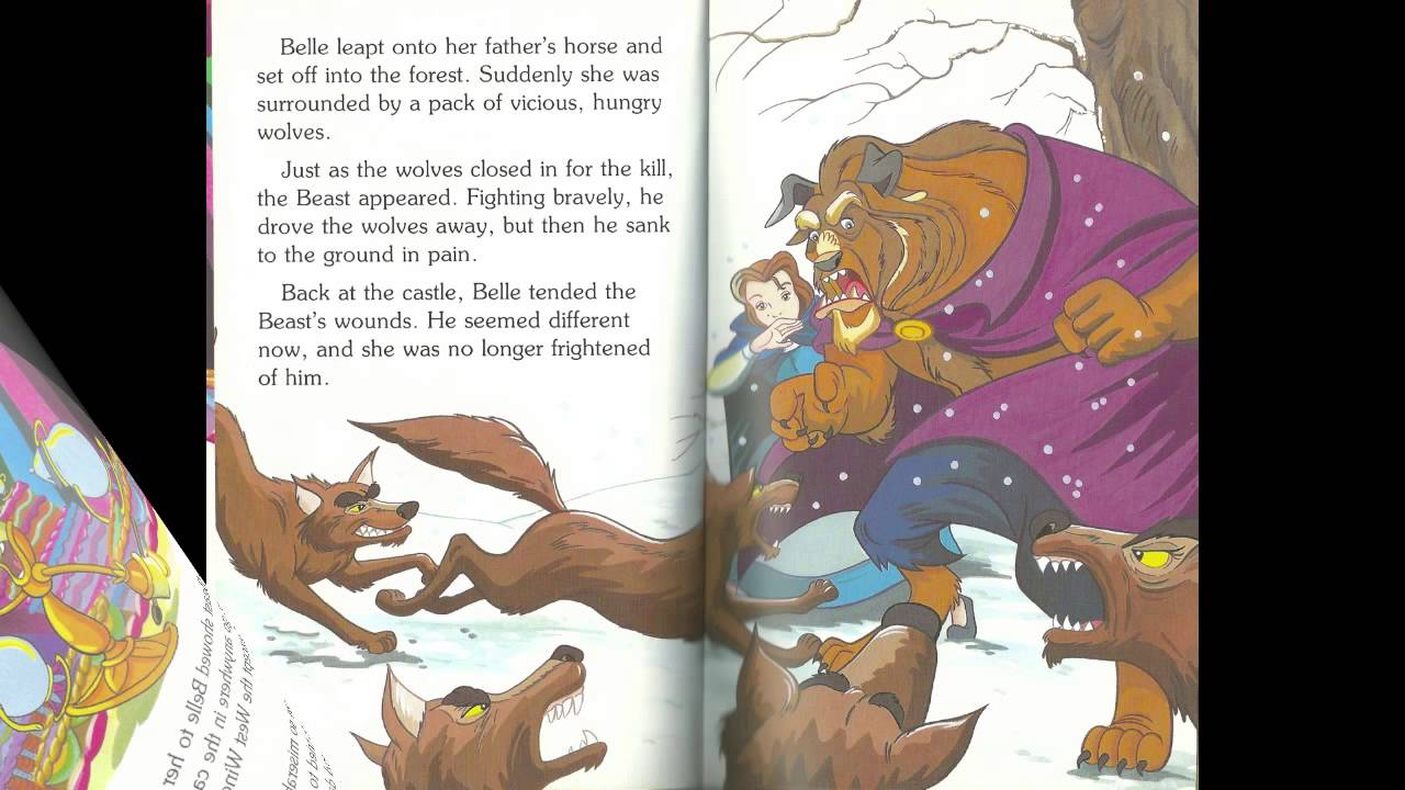 reading beauty   beast disney ladybird book read  youtube