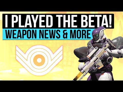 Destiny 2 | I PLAYED THE BETA! - New Weapon Shaders, Mods, Armor Stats & First Impressions!