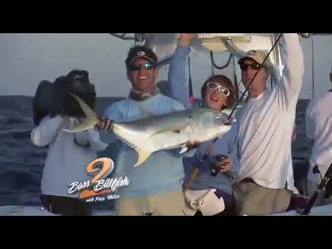 Sharks, sailfish and lunker bass fishing in Palm Beach County on Bass 2 Billfish