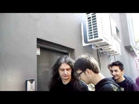Andre Olbrich Of Blind Guardian Signs For The Greek Fan Club Of Blind Guardian!!!-8-5-2011