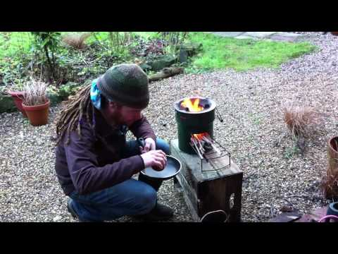 Cooking with a Stovetec Rocket Stove