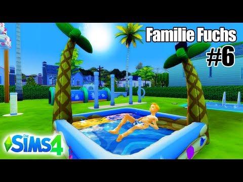 Familie Fuchs: NEUER GARTEN MIT AUFBLASBAREM POOL FÜR KINDER! MÖBEL FÜR TIERE! Sims 4 Geschichten #6