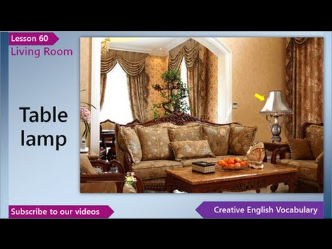 Learn English English Vocabulary Lesson 60 Living Room