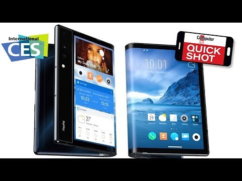 CES 2019 - Flexibles Smartphone Royole Flexpai: Tablet oder Handy?