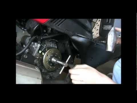 How To Fix (Replace) A GY6 Flywheel. Cdi. Stator. and Magneto