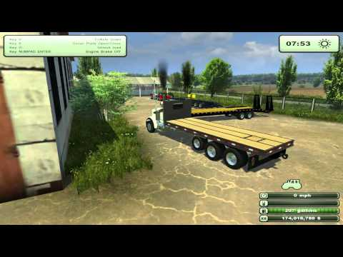 Farming Simulator 2013 Mods - Kenworth Bale Truck. John Deere. and more!