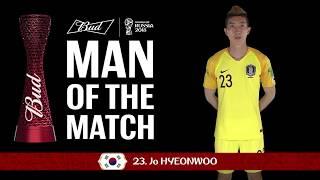 JO Hyeonwoo (Korea Republic) - Man of the Match - MATCH 43