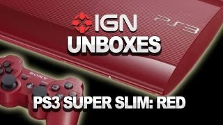 Garnet Red PS3 Super Slim Unboxing