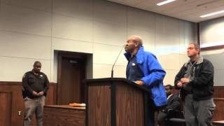 Judge responds to heated argument by man accused in bank robbery