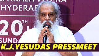 K. J. Yesudas Press Meet | Indian Famous Musician