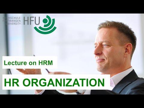 Human Resource Management Lecture Part 12 - HR Organization
