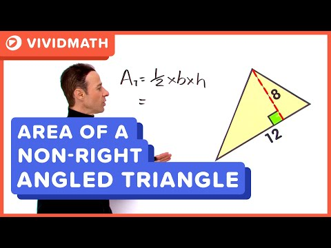 Area Of A Right Angled Triangle - VividMaths.com