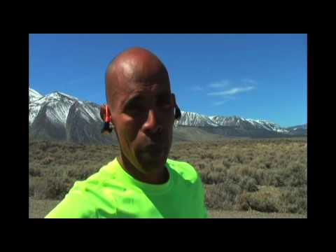 Meb Keflezighi training in Mammoth Lakes, California preparing for the 2014 Boston Marathon.