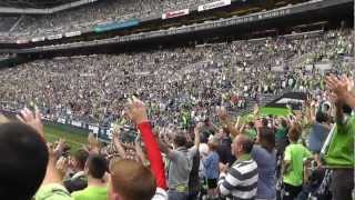 Seattle Sounders Vs Chelsea opening ceremony 2012!
