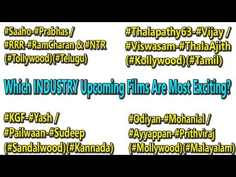 Biggest Upcoming Tollywood Vs Kollywood Vs Mollywood Vs Sandalwood I Which Industry Films Exciting?