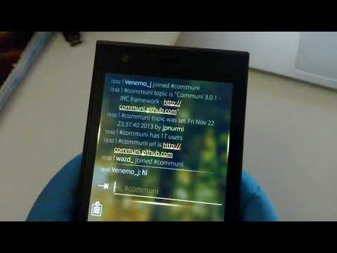 Demoing the first IRC client on the Jolla
