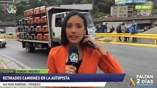 Venezuela - Fueron removidos camiones que obstaculizaban el paso a caravana rumbo a Táchira - VPItv