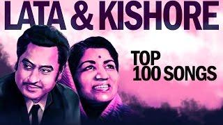 Top 100 Songs of Lata  Kishore      100   HD Songs