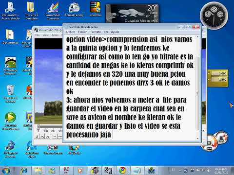 tutorial como comprimir videos para subirlos a youtube..avi