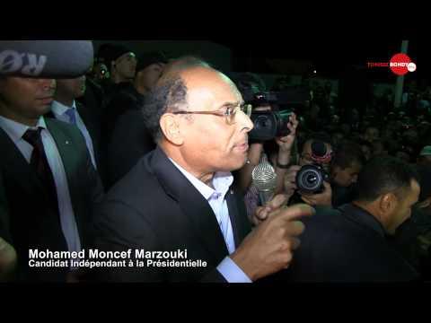 Couverture de la campagne présidentielle de Mr Moncef Marzouki à Kasserine