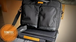 """Tomtoc 15.6"""" Business Laptop Briefcase and Shoulder Bag Review"""