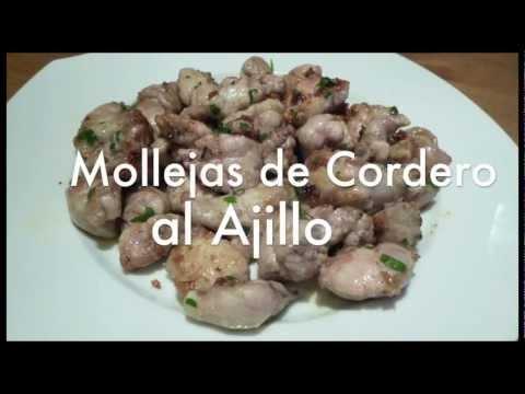 Mollejas de cordero al ajillo - Recetas de cocina fáciles