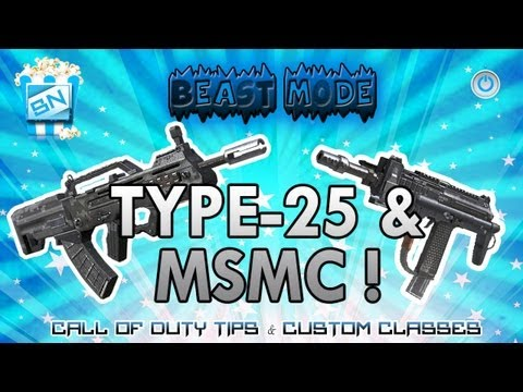 Call of Duty Black Ops 2: BEST CLASS SETUP (BM) EP. 1  MSMC - TYPE25