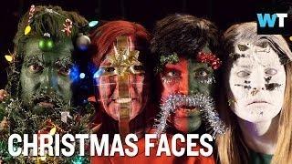 Christmas Faces of Rhett, Link, Grace & Hannah | What's Trending Now