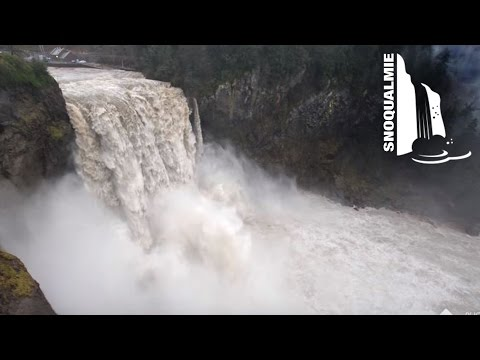 Snoqualmie Falls after heavy rains