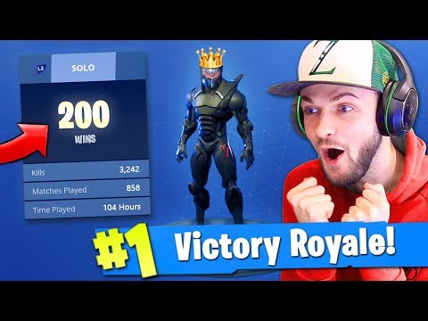 Ali-A's 200th SOLO VICTORY ROYALE in Fortnite: Battle Royale!