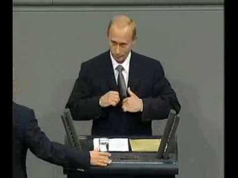 В.Путин.Выступление в бундестаге ФРГ.25.09.01.Part 1