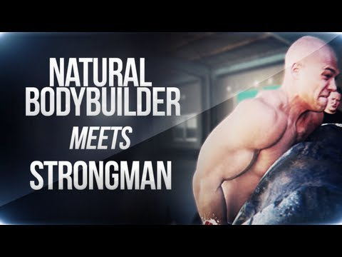 Natural Bodybuilder meets Strongman! (eng sub) Image 1