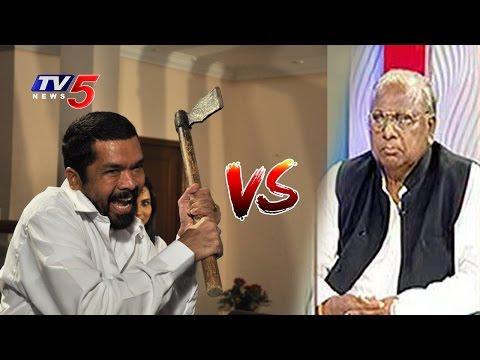 Fight in Live Top Story Debate Posani Vs VH | Telugu News | TV5 News