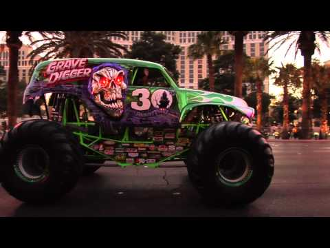 Monster Jam - World Finals 2012 - Grave Digger 30th Anniversary Parade on the Las Vegas Strip Music Videos